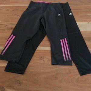 Lot of 2 adidas crop leggings